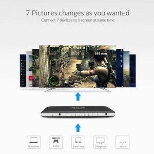 Image 3 - Переключатель Unnlink HDMI 7X1 HDMI 2,0 UHD4K @ 60 Гц HDCP 2,2 HDR 7 в 1 выход с ИК пультом ДУ для Smart TV MI Box3 PS4 проектора