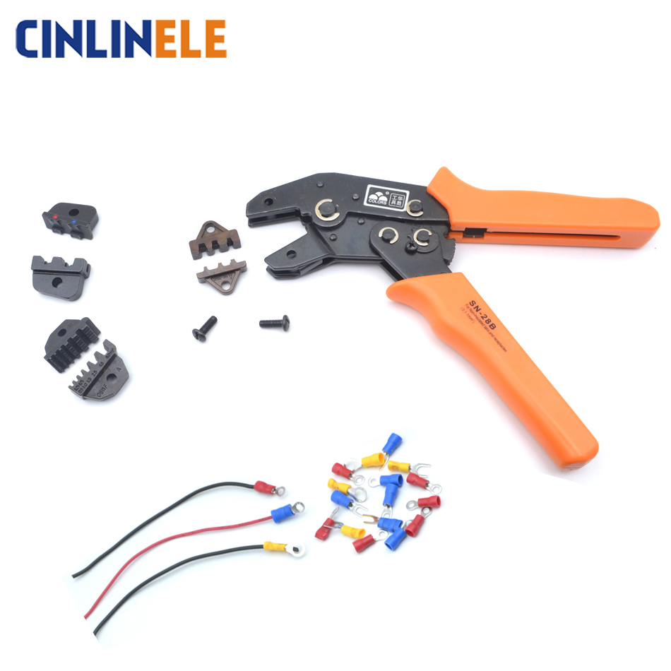 Free Shipping Crimping Tool Wiring Crimp Pliers Bare Insulation Ratchet Terminals Multitool Portfolio Tools