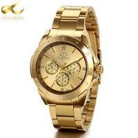 Lancardo Mens Watches Top Brand Luxury Business Men Gold Watch Men Quartz Wristwatch Relogio Masculino Erkek