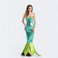 Female birthday party performance costume mermaid costume female sense adult Halloween costume dance fantasy carnival dress