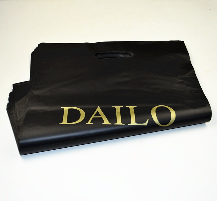 DAILO black Clothes Plastic bags 100pcs/lot 30X40cm Fit clothes or gift packing shopping bags