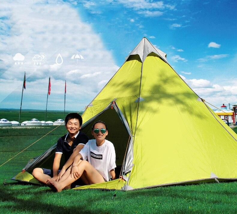 Vente chaude souper grande 6-8 personne imperméable à l'eau en plein air mongolie yourtes tente, CZX-023 pliable Camping yourte tente