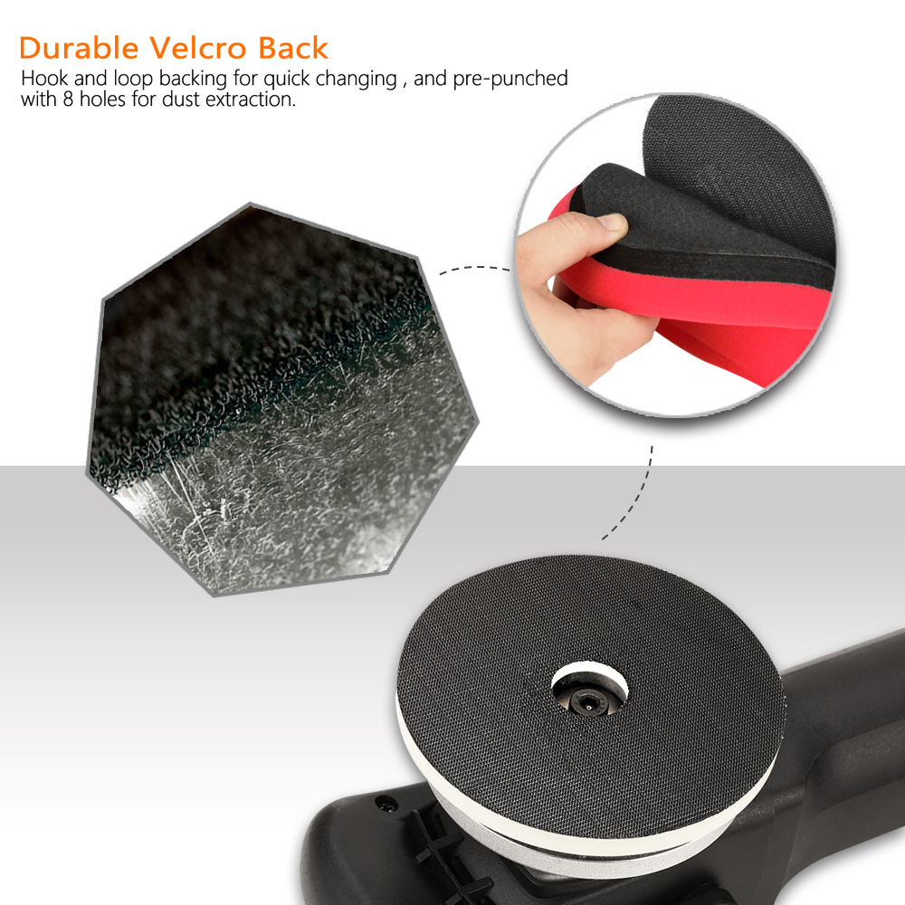 Tools : SPTA 5inch  6 inch Forced rotation Dual Action polisher DA Polisher Car Polisher  amp  Polishing Pads