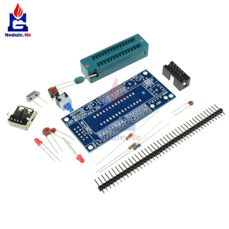 Hot Sale DIY Kit ATmega8 ATmega48 AVR Minimum System Development Board Miniature Mini Electronic Suite Parts Without Chip