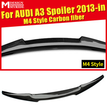 A3 A3Q Rear Spoiler New M4 Style Carbon Fiber Gloss Black rear spoiler Fit For A3 A3Q Rear trunk Lid Boot Lip wing Spoiler 2013+ a3 rear trunk spoiler wing lip small aev style carbon fiber for a3 a3q auto air rear trunk spoiler tail wing car styling 2013 in