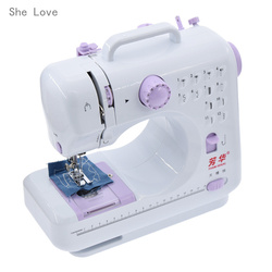 Fanghua Mini Sewing Machine 12 Stitches 505A Knitting Machine Multifunction Electric Replaceable Presser Foot Crafting Mending