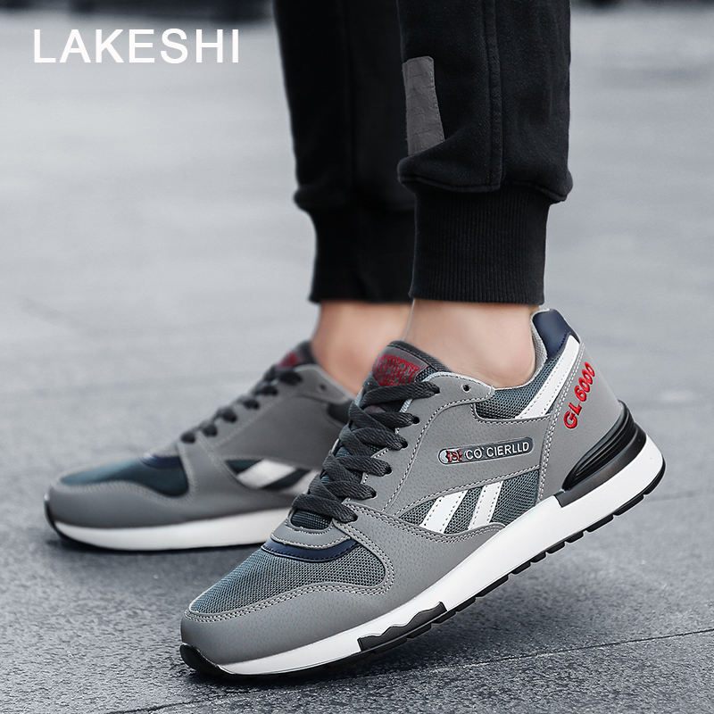 Lakeshi Summer Men Shoes Men Sneakers Breathable Outdoor Men Shoes Lace Up Men Casual Shoes men