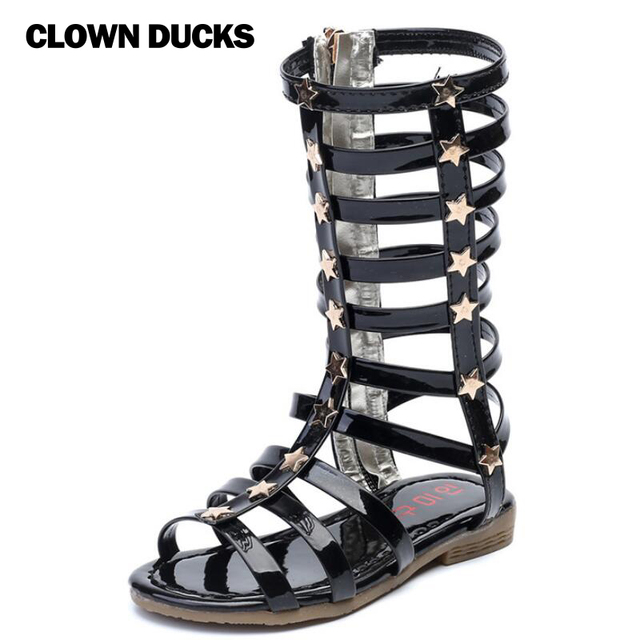 737ac1ee096b Summer Boots High-top Fashion Roman Girls Sandals Kids Gladiator Sandals  Toddler Baby Sandals Girls High Quality Shoes