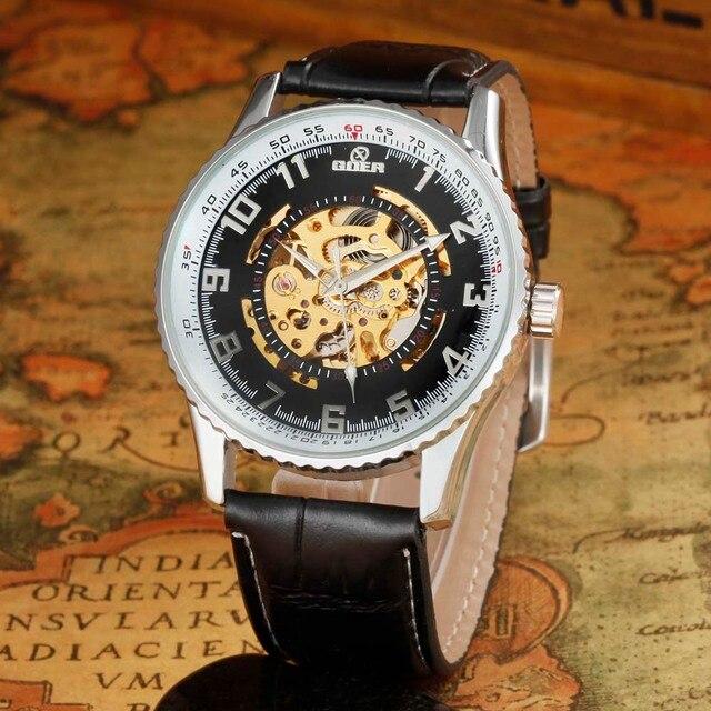 e7deb134abb FREQÜENTADOR Dos Homens Relógios Top Marca De Luxo Automatic Self-Vento  Esqueleto Relógios Mecânicos Moda