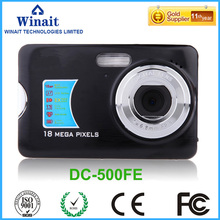 On sale Freeshipping18MP 8x digital zoom mini Digital camera/camera digital with 2.7″ TFT display Telescopic lens digital camera DC-500