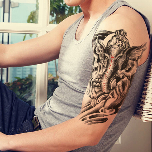 Aliexpress Com Buy India Elephant God Tattoos Cool: 2Pcs Body Art Makeup Tattoo Holy India Elephant God