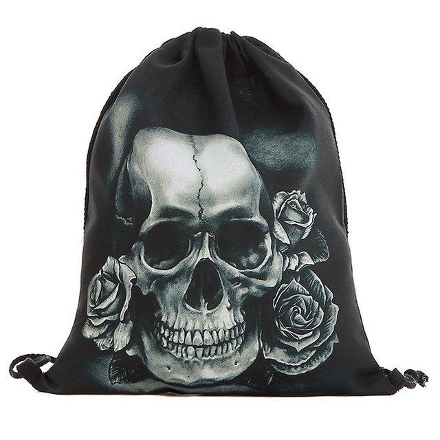 Unisex Drawstring bag Halloween Skull Backpacks 3D Printing Bags Drawstring  Pouch Draw String Bags #C-in Drawstring Bags from Luggage & Bags on ...
