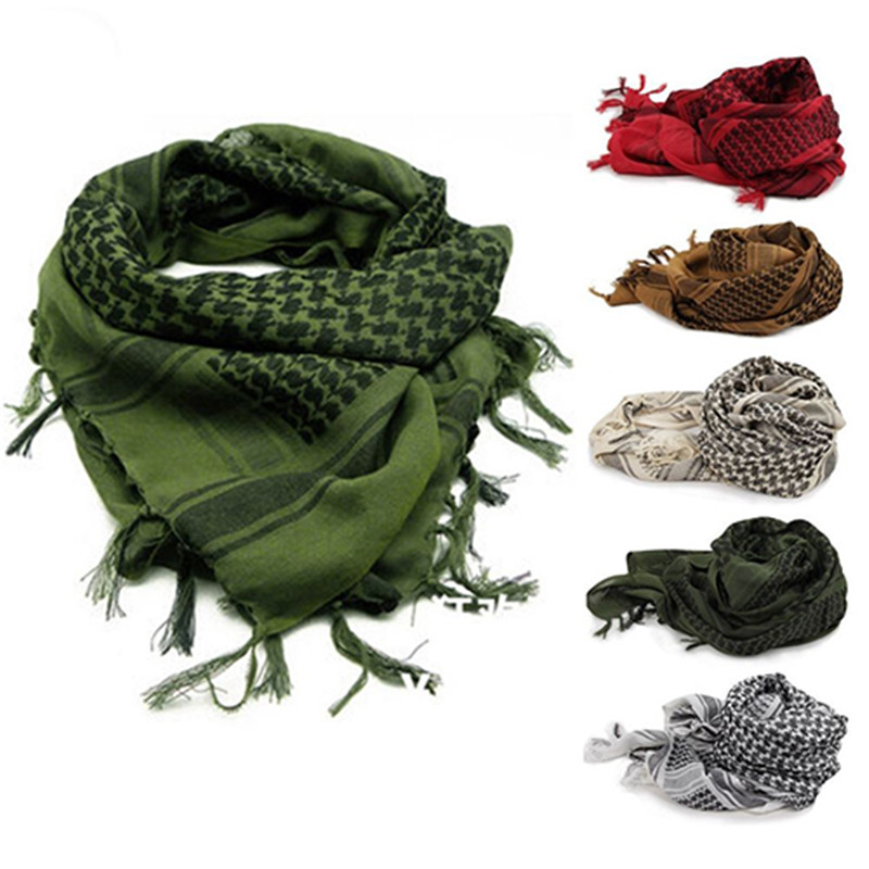 Unisex Lightweight Plaid Tassel Arab Desert Shemagh KeffIyeh   Scarf     Wrap   Pashmina Arab   Scarf   Army Shawl Neck Cover Head   Wrap