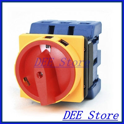Ui 660V Ith 100A ON/OFF 2 Position Universal Rotary Cam Changeover Switch ui 660v ith 160a on off on 3 positions rotary cam changeover switch lw28 160 3