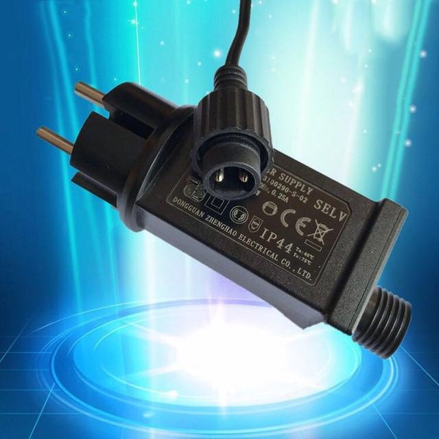 2PCS Power Adapter 31V 6W Always Bright /Flash Drive Power LED Ariver EU Plug With Switch Power Plug