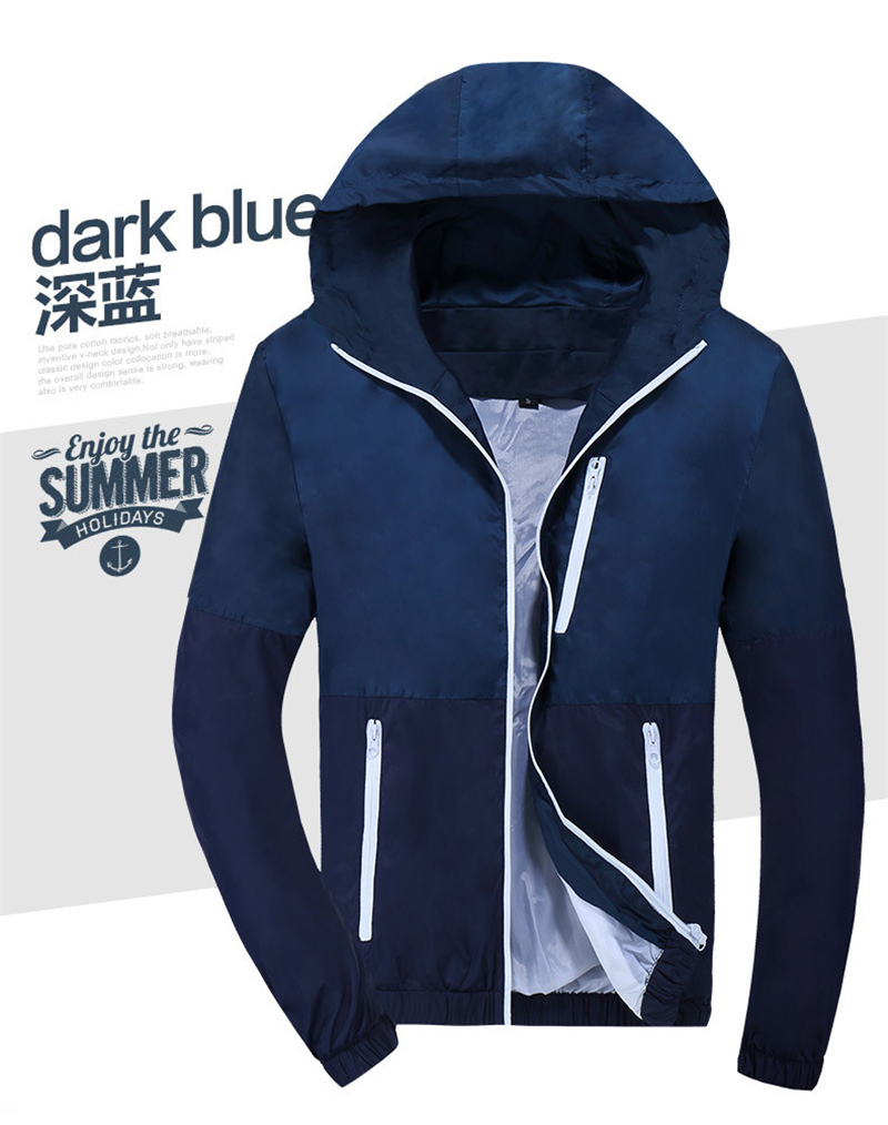Man's Winter Fashion Jacket Hooded