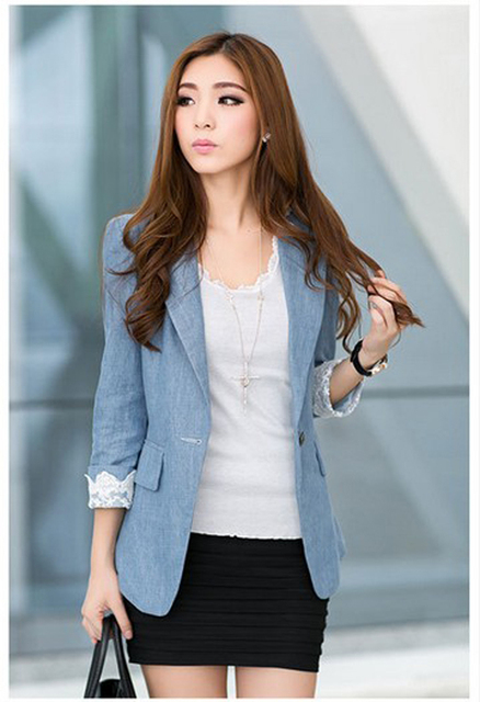 47e1b9486fe 2015 new vintage for women Plus size Women Retro commuter jacket suit Long  sleeve Korean small suit 4XL Lady Elegant