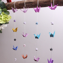 DIY Handmade Paper Crane With Paper Star Banners Wedding Decorations Birthday Party Banner Valentine's Day Home Party Supplies