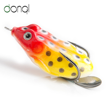 DONQL Tender Ray Frog Fishing Lures With Steel Sequins High Water Synthetic Bait 11g 5.5cm Double Hooks Frog Lure Fishing Sort out