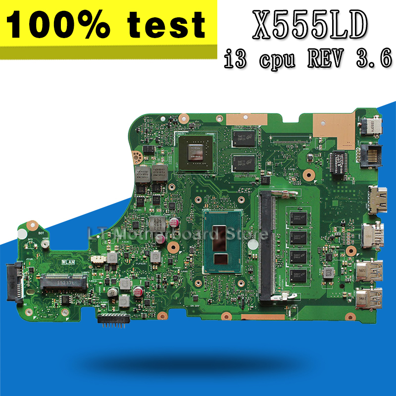 X555LD Motherboard REV 3.6 i3 CPU 4GB GT840M for ASUS X555LN X555L F555LD Laptop Motherboard X555LD Mainboard X555LD motherboard kefu x555ld for asus x555ld r557l laptop motherboard rev2 0 1 1 3 1 3 3 i5 cpu motherboard tested motherboard