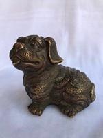 Chinese folk bronze bronze feng shui Chinese zodiac animal dog statue