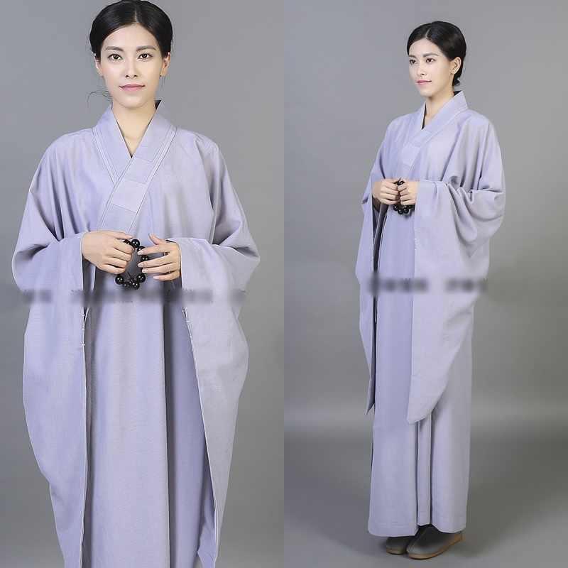 僧侶のローブ女性制服禅服少林寺僧の服僧侶衣装女性 TA543