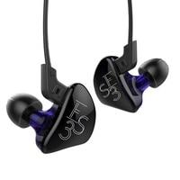 KZ ES3 حديد التسليح المتوازن مع ديناميكية في الأذن سماعة الهجين سائق الضوضاء إلغاء سماعة استبدال كابل K5