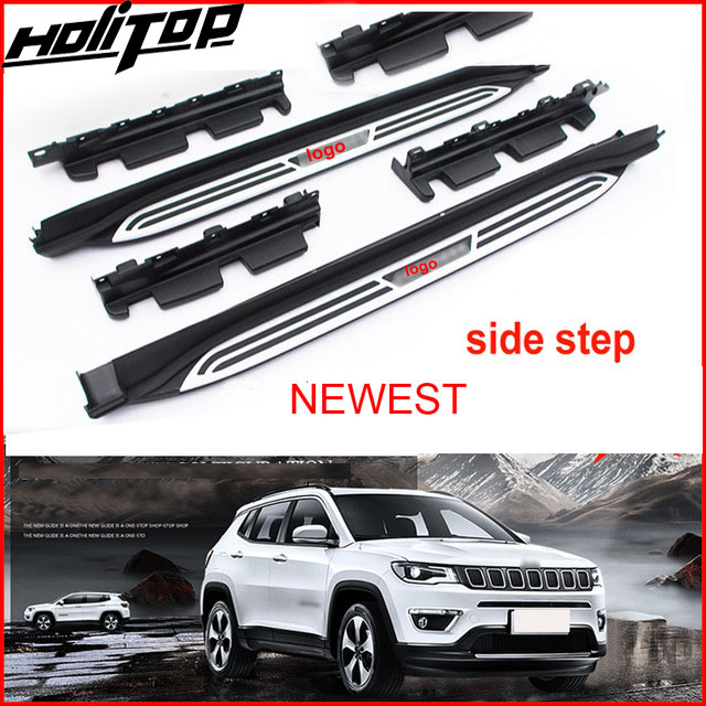 New arrival roof rail/rack luggage bar cross bar for Jeep Compass 2016-2018+,purified 304 stainless steel,different quality 2pcs roof rack cross bar crossbar black abs aluminum for jeep compass 2011 2015