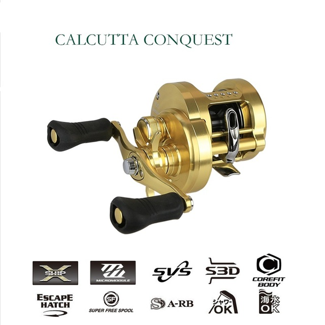0b12feaf464 SHIMANO Spinning Reel CALCUTTA CONQUEST Fishing line wheel 100/200/300/400  Gear Ratio 5.6:1 Professional 12+1BB Fishing Gear