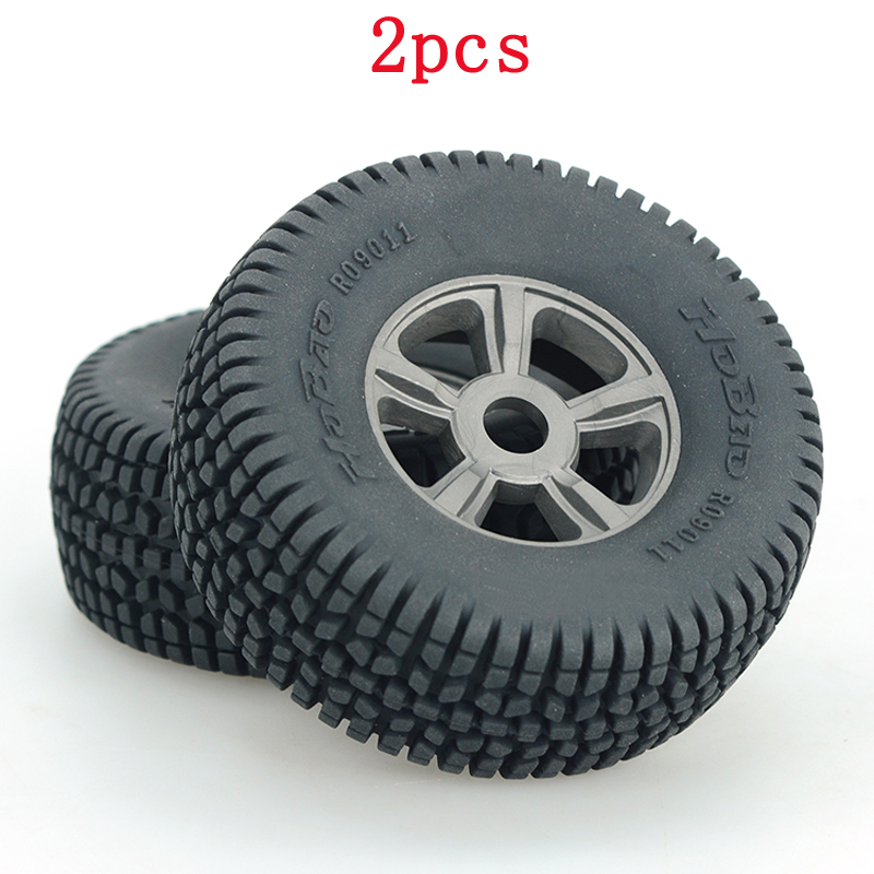 2pcs HOBAO 8SC Tires Wheel Hub Tire Skin 89816+89817 Dia 113mm Tyre 17mm Adapter For 1/8 RC Short Card/Oil/Electric Car Modified