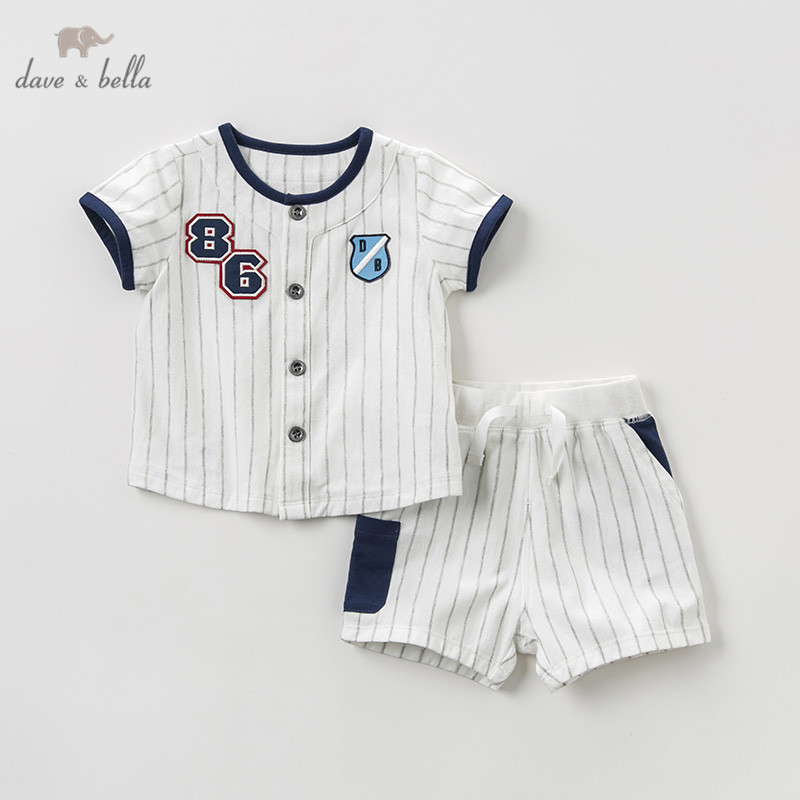 DBA9569 dave bella summer baby boy fashion clothing sets boys casual short sleeve suits children stripedDBA9569 dave bella summer baby boy fashion clothing sets boys casual short sleeve suits children striped