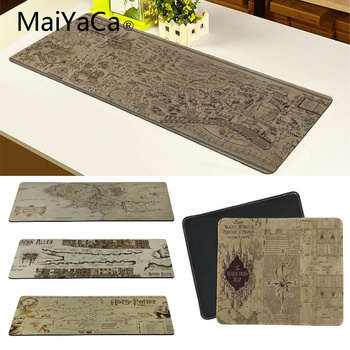 MaiYaCa 700*300mm Old Map mouse pad gaming mouse pad large cartoon Anime rubber mouse pad Keyboard Mat Table Mat rubber mouse pad mat black