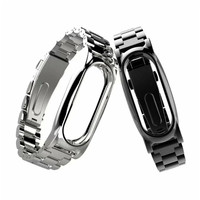 SUNWARD 2017 New For Xiaomi Mi Band 2 Magnet Stainless Steel Luxury Wrist Strap Metal Wristband