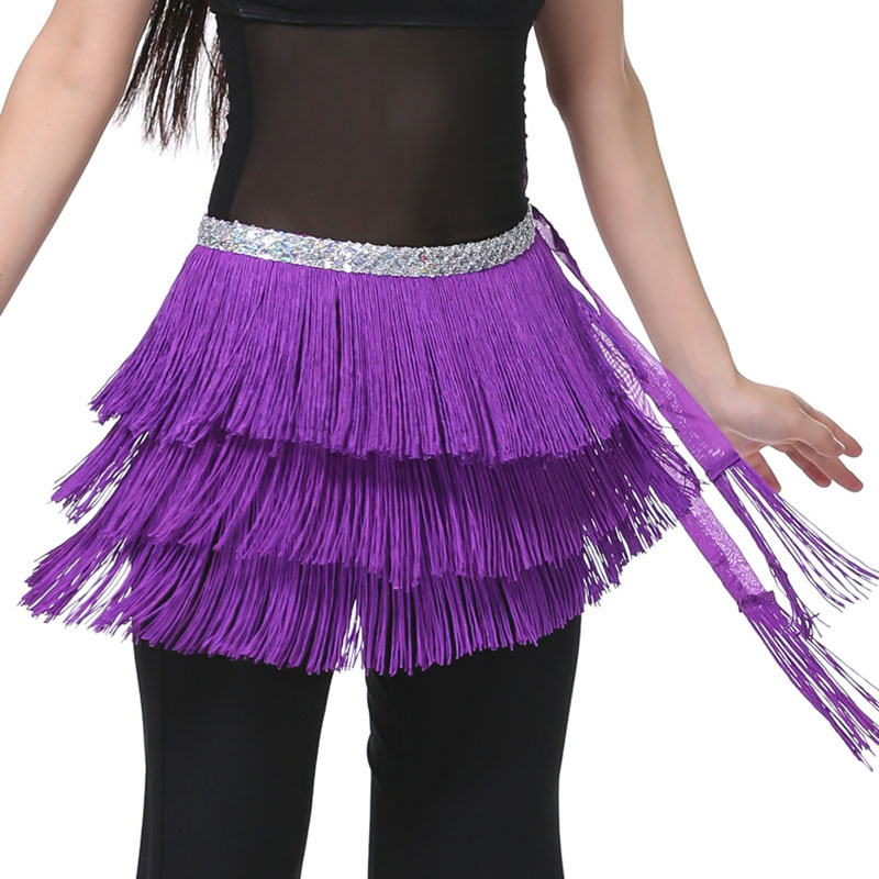 3 Layer Fringe Sequin Oriental Belly Dance Costumes Belt for Sale Women Indian Dancing Hip Scarf Scarves Bellydance Accessories
