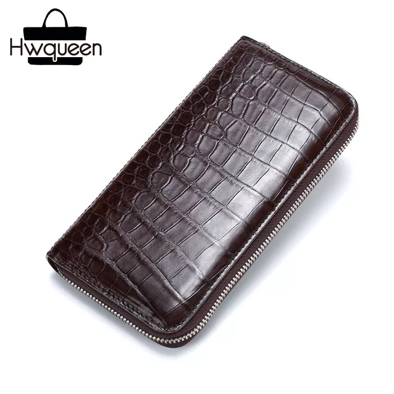 Fancy Quality Genuine Crocodile Belly Skin Zipper Closure Men Phone Case Exotic Alligator Leather Male Large Clutch Purse WalletFancy Quality Genuine Crocodile Belly Skin Zipper Closure Men Phone Case Exotic Alligator Leather Male Large Clutch Purse Wallet