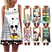 Hot Sales Women Summer Dress 3D Print Butterfly Sleeveless O-neck Beatch Dress 2019 New Fashion Bohemian Casual Dresses Vestido