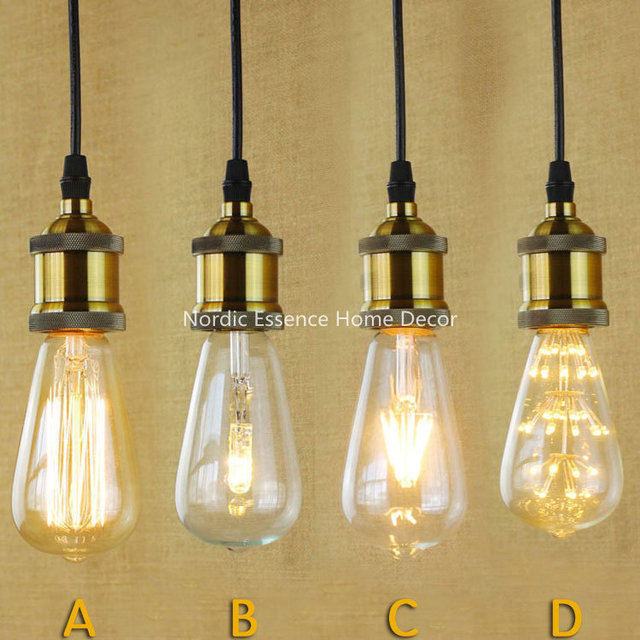 single head screw caps big industrial style hotel individuality clothing store decoration edison light bulb