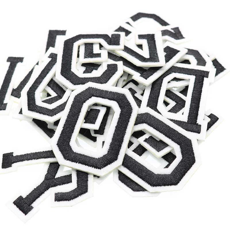 26 Chữ Cái Tiếng Anh Thêu Ủi Dán Cường Lực Mới Thiết Kế Miếng Dán Thêu Tự Làm Quần Áo Da Bò Ba Lô Vải Thời Trang