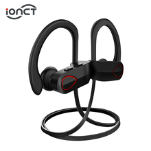 iONCT IPX7 Waterproof 5.0 Bluetooth earphone Noise Cancelling HiFi Stereo wireless headphone headset Sports earbuds for phone plextone bx240 auriculares bluetooth earphone sports wireless hifi headset stereo waterproof headphone airpods for iphone 7 plus