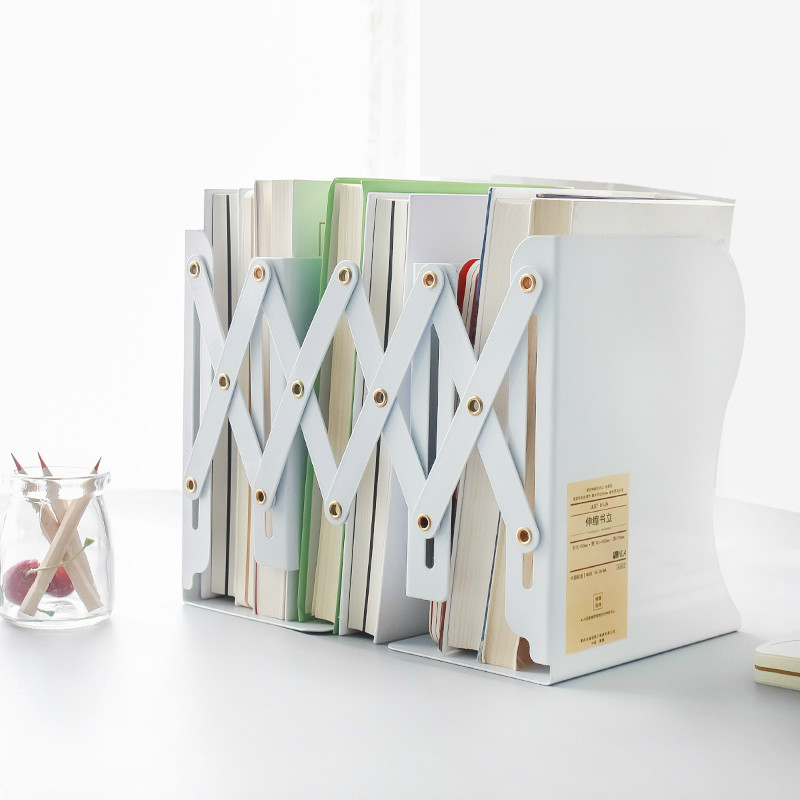 Retractable Book Stand Folding Book Folder Large Telescopic Bookends Student Stationery Supplies Desk Accessories Org цена