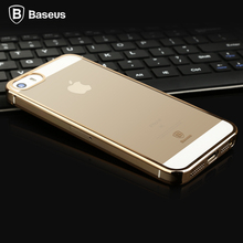 Baseus Luxury Glitter Case For iPhone 5 5s SE Ultra Thin Clear Crystal Rubber Electric Plating Back Cover For iPhone 5s 5 SE