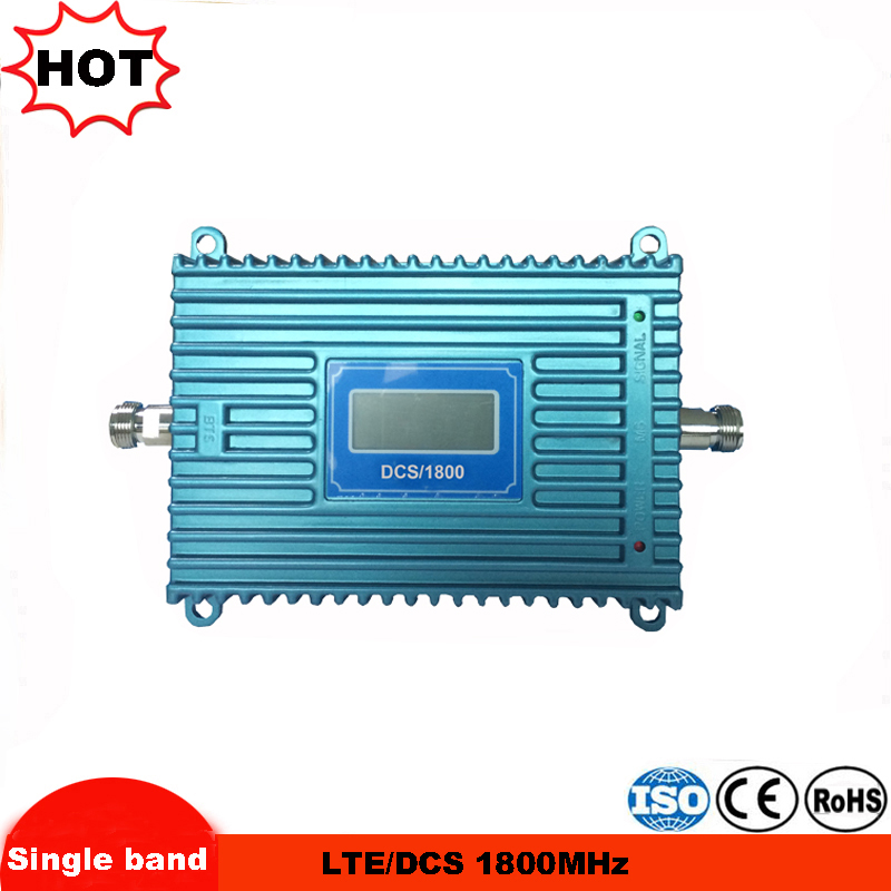 Cellular Signal Repeater 4G LTE 1800MHz GSM Repeater GSM Booster 1800 70dBi Gain LCD Repetidor GSM 1800 MHz Signal Amplifier