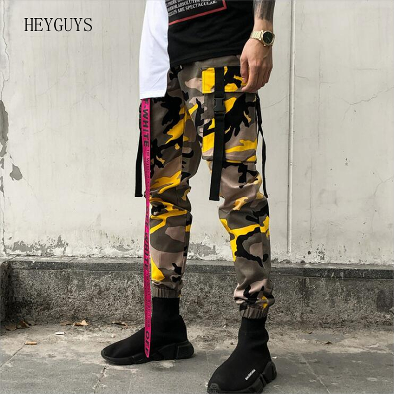 Trousers Male Camo-Pants Streetwear Elasticity Casual New Hip-Hop Man Summer Slim Tide-Tooling