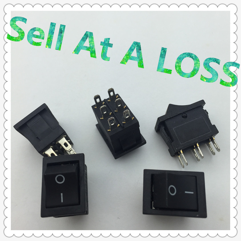 5pcs/lot 15*21mm 6PIN SPST ON/OFF G119 Boat Rocker Switch 6A/250V 10A/125V Car Dash Dashboard Truck RV ATV Home new mini 5pcs lot 2 pin snap in on off position snap boat button switch 12v 110v 250v t1405 p0 5