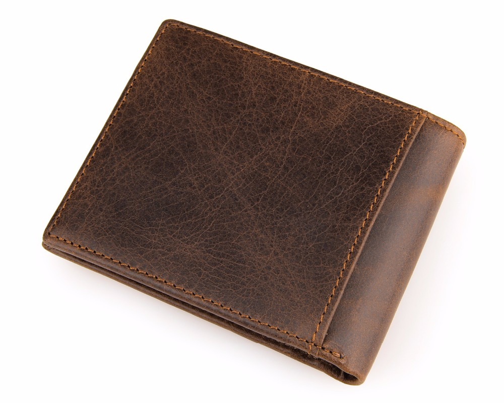 Ultra Thin Cowhide Purse For Boys Good Quality Genuine Leather Short Wallet Trifold Money Clip Men Luxury Small Wallet