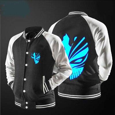 2018 new free shipping baseball jacket Death jacket lunminoue pattern jacket sweatshirts, USA size