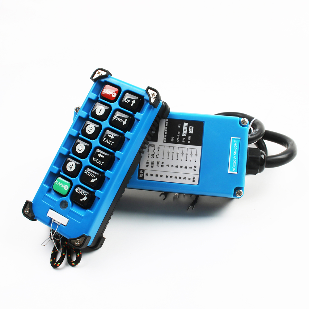 F21-E2B-8 industrial remote controller switches 10 Channels keys Direction button Hoist Crane Truck Radio Remote Control System