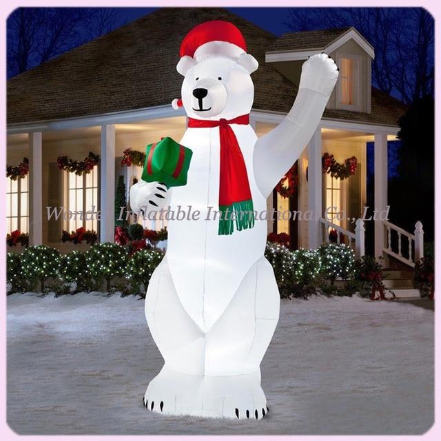 14ft Led Lighted Christmas Inflatables Polar Bear Yard Inflatable Cartoon