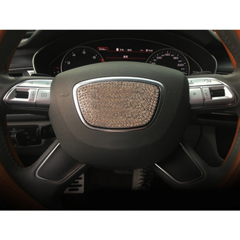 2012 Audi A8 Interior: 6pcs Chrome ABS Steering Wheel Buttons Sequins Cover