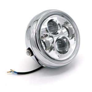 Image 4 - Motorcycle LED Headlight Hi&Lo HeadLamp Bulb DRL With Angel Ring for Harley Sportster Cafe Racer Bobber
